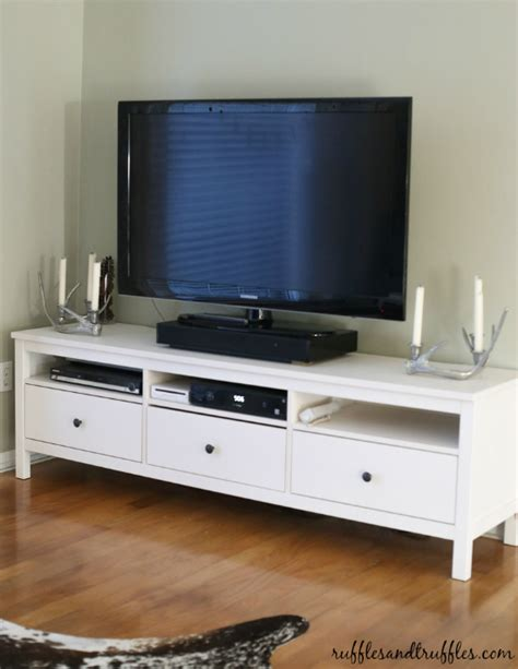 ikea white tv stand new and improved our tv stand the ikea hemnes