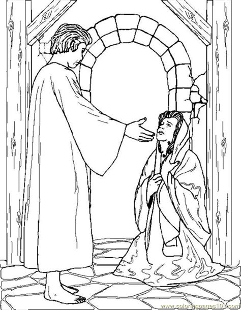 coloring pages angelgabrielappearstomary peoples gt angel