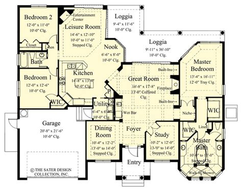 houzz homes floor plans sater design collection s 6758 quot toscana quot home plan