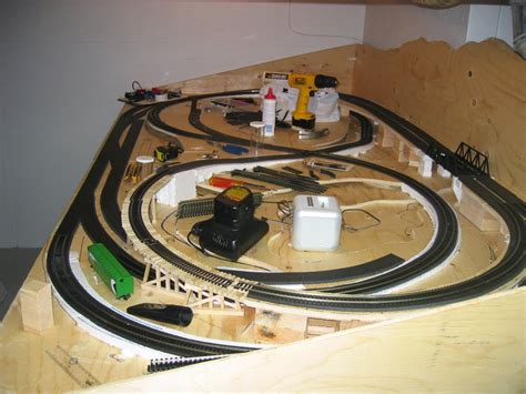 model train layout table height american furniture diy plans