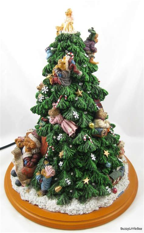 danbury mint boyds bears lighted christmas tree sculpture