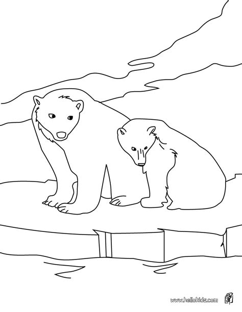 Polar Bears Coloring Pages Hellokids Com Arctic Animals Coloring Pages