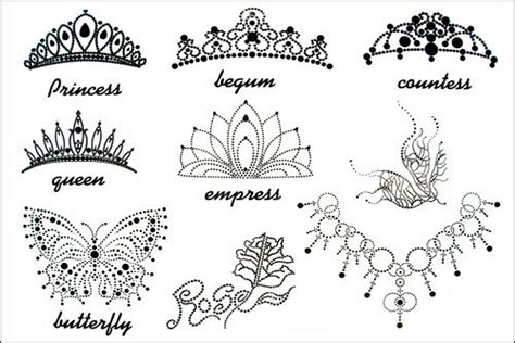 princess tiara tattoo tribal crown designs view more images
