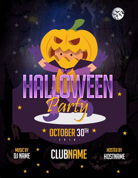halloween templates for word ms word halloween party flyer templates word excel