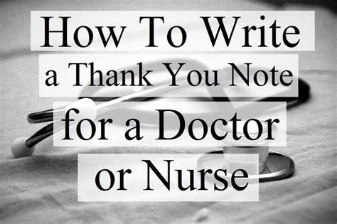 write notes doctors nurses