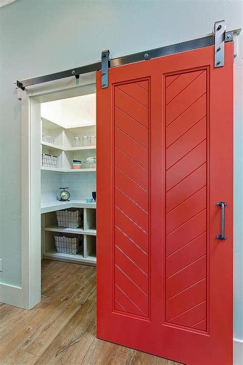 barn door pantry pantry with barn door transitional kitchen ttm