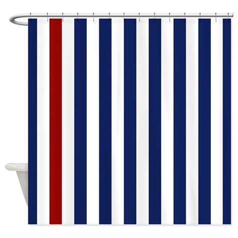 nautical stripe curtains nautical red stripe shower curtain by stripstrapstriped