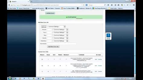 setup php cron job  hostgator cpanel web hosting
