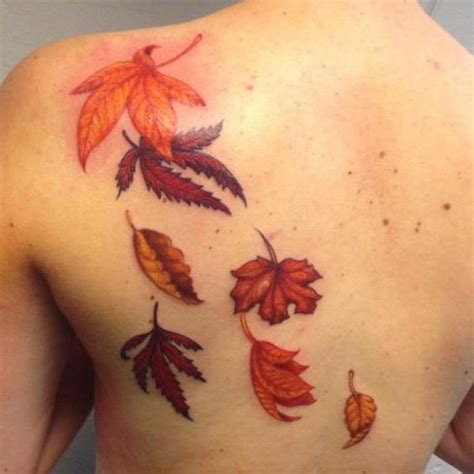 fall leaves tattoo maple leaf tattoos for autumn 2016 girlshue