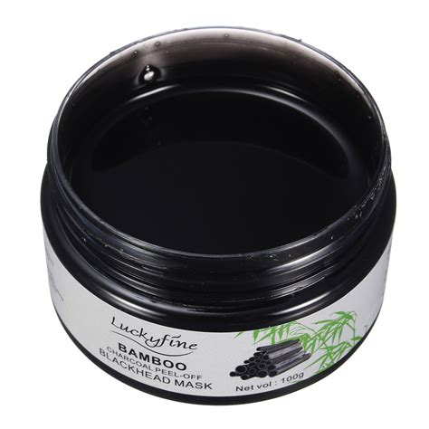 Masker Bamboo Charcoal luckyfine blackhead mask bamboo charcoal peel for sale
