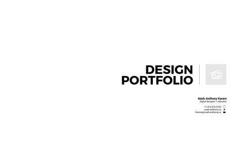 Create A Pdf Portfolio Using Adobe Illustrator Mark Anthony Ca Portfolio Template Pdf