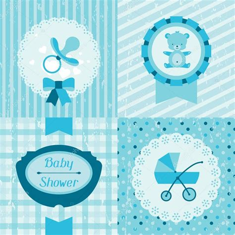 invite baby shower vector boy baby shower invitation cards stock vector