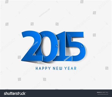 new year logo design 2015 happy new year 2015 text design stock vector 208877062