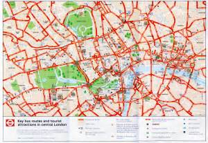 London England Map by Central London