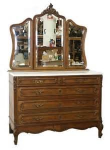 beautiful antique walnut dresser with 3 part mirror