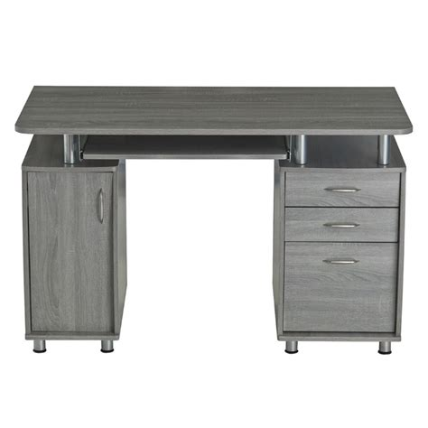 Desk And Computer Desks Techni Mobili Complete Workstation Computer Desk In Gray Rta 4985 Gry