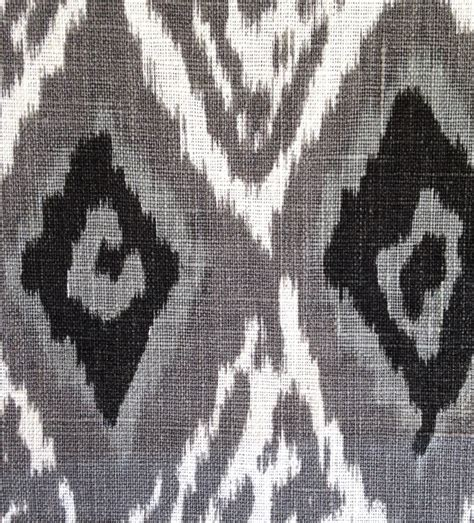 grey ikat curtains grey linen ikat fabric by the yard modern black white ikat