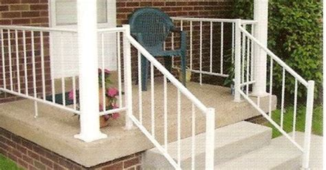 off white wrought iron outside railing midway aluminum
