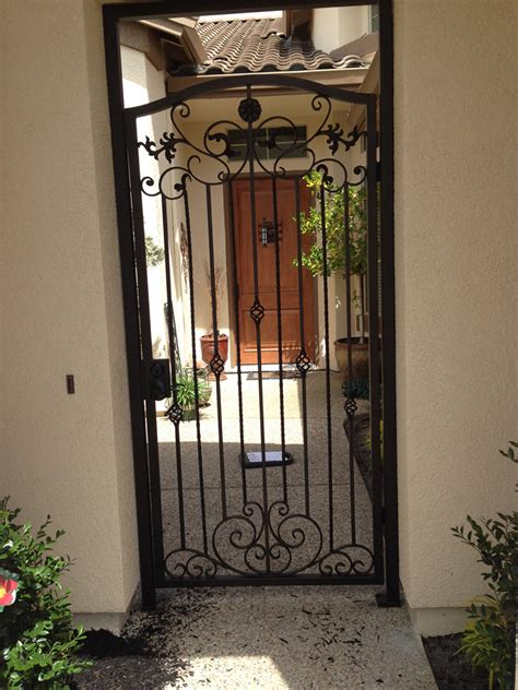 wrought iron security door vintage iron courtyard gates