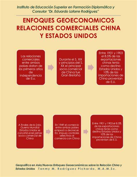 relaciones entre estados unidos y china wikipedia la geopol 237 tica en asia y nuevos enfoques geoecon 243 micos sobre