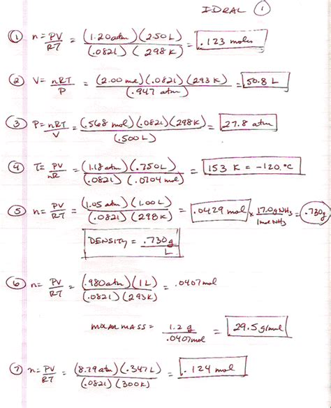 Lussac S Worksheet Answers With Work