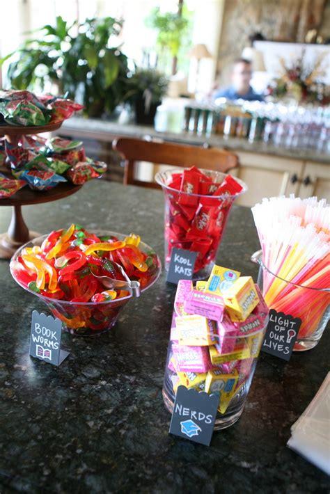 theme names for graduation graduation themed candy dessert bar grad parties bar