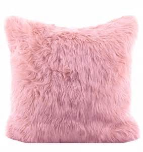 Pink Fur Pillow by Pink Faux Fur Shag Pillow