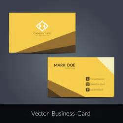 yellow business cards yellow business card vector free