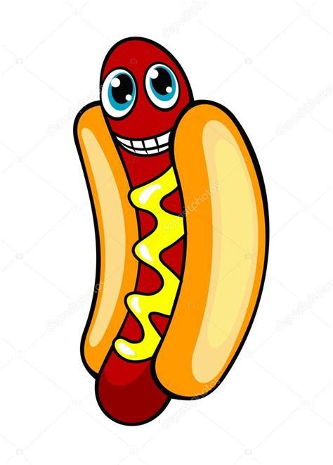 imagenes animadas hot cartoon hotdog stock vector 169 buchan 14553799