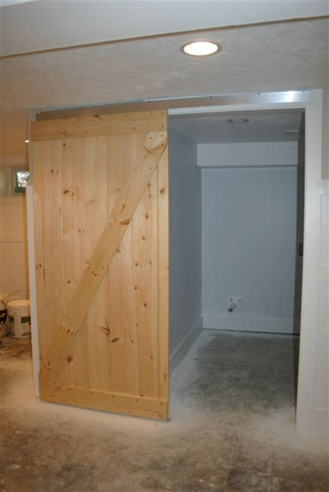 Create A Barn Door With A Simple Closet Track Make Your Own Barn Door Track