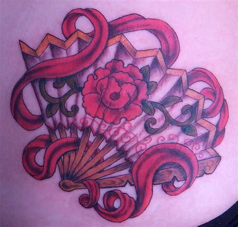 japanese fan tattoo designs fan fan with flower tattoomagz