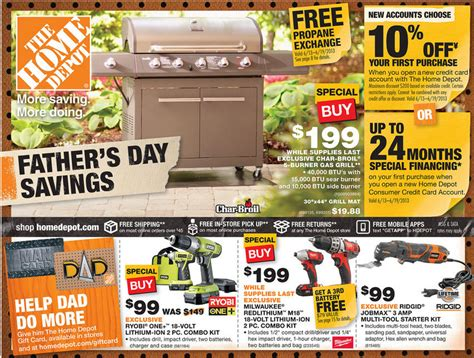 home depot ad deals for 6 13 6 19 s day savings