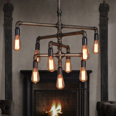 Creative Hanging Lights Retro Industrial Water Pipes Chandelier Creative Design Pendant Ls Industrial Hang Ls