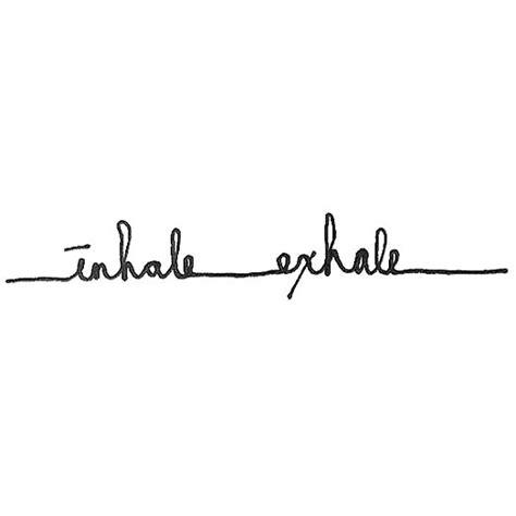 inhale exhale tattoo design