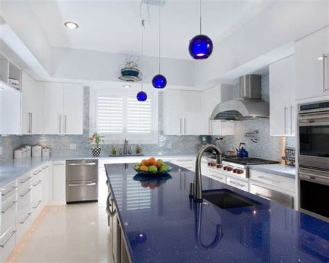 Blue Countertop Kitchen Ideas The World S Catalog Of Ideas