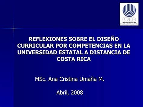 Diseño Curricular Por Competencias Universidad Cristina Uma 241 A