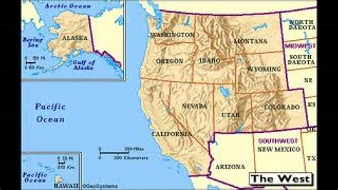 map of the united states during the westward expansion west region of the united states of america u s regions