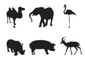Animal Silhouettes Templates by Africa Animal Silhouettes Vector Free