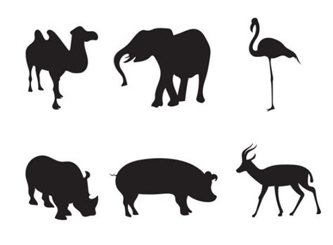 Animal Silhouettes Templates africa animal silhouettes vector free