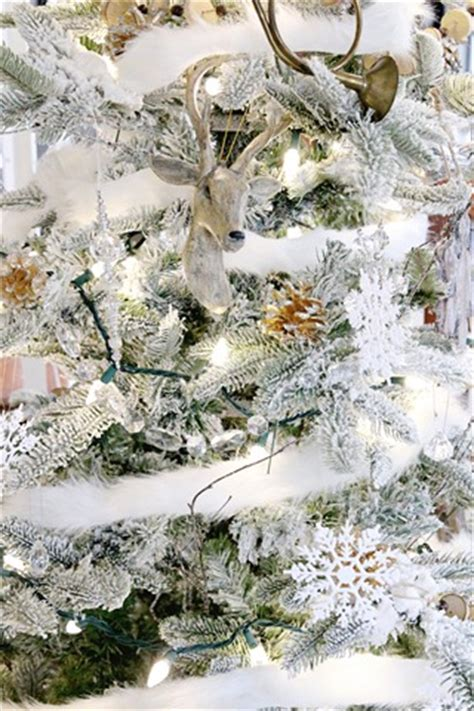 white furry fluffy christmas trees easy 10 minute decorating fur garland finding home farms