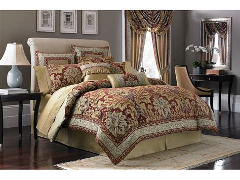 Croscill Fresco Comforter Set Queen Red Shipped Free At