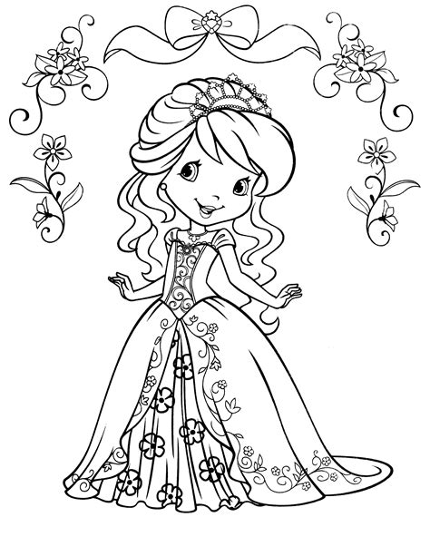 in an coloring book with relaxing and beautiful coloring pages books beautiful dress strawberry shortcake coloring pages