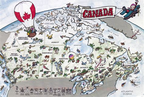 travel maps canada tourist map of canada