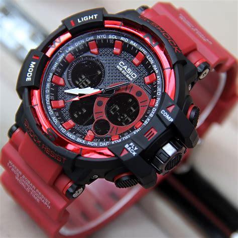 Jual Jam Casio Gshock Gwa 1100 New Hitam Terbaru jual jam tangan g shock gwa 1100a tali merah