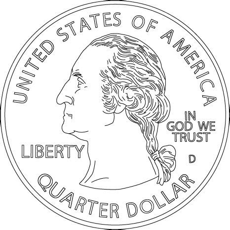 half dollar coin coloring page http www