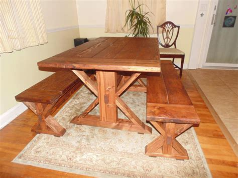 Handmade Kitchen Table - kent dining table trestle x farmhouse reclaimed wood