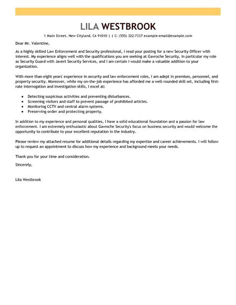 emergency services cover letter exles security sle