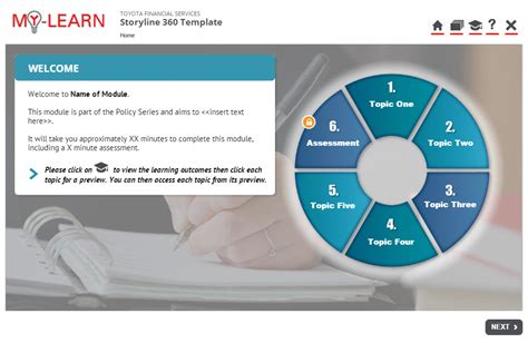 Storyline 360 Elearning Template Elearning Templates Storyline