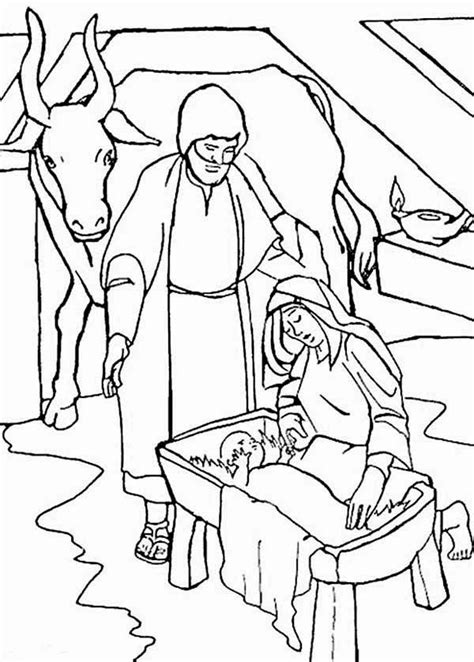 nativity coloring page pdf nativity of jesus christ bible christmas story coloring