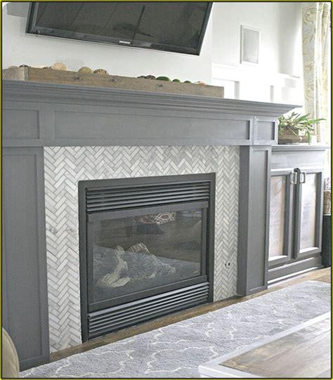 Herringbone tile pattern fireplace home design ideas